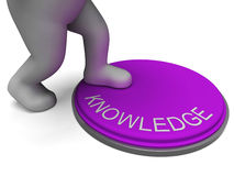 Knowledge Button Showing Learning And Intelligence Stock Photos