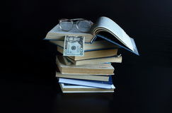 Knowledge can not be bought, read a book in them the wisdom of mankind Stock Image