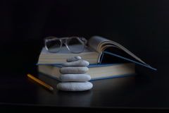 Knowledge can not be bought, read a book in them the wisdom of mankind Stock Photo