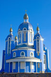 The knowledge of Christian Church on blue sky background.  Stock Photography