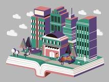 Knowledge city concept Stock Image