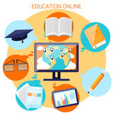 Knowledge collected from around the world concept Royalty Free Stock Image