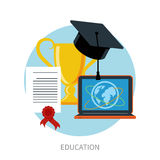 Knowledge collected from around the world concept Royalty Free Stock Photos