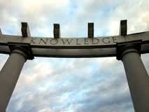 Knowledge archway Stock Image