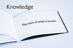 Knowledge Concept Definition stock image