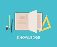 Knowledge concept flat illustration Royalty Free Stock Photo