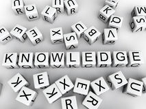 Knowledge cubes Stock Images