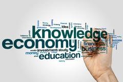 Knowledge economy word cloud Stock Photos