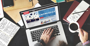 Knowledge Education News Feed Advertise Concept Royalty Free Stock Photography