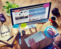Knowledge Education News Feed Advertise Concept. Knowledge Education News Feed Advertise Royalty Free Stock Image