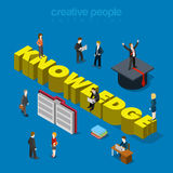 Knowledge education training graduation flat 3d isometric vector Stock Photos
