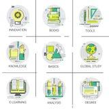 Knowledge Elearning Degree University Education Online Icon Set Royalty Free Stock Photo