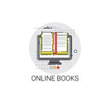 Knowledge Elearning Education Online Books Icon. Vector Illustration Royalty Free Stock Photo