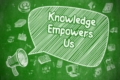 Knowledge Empowers Us - Business Concept. Royalty Free Stock Images