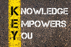 Knowledge Empowers You - KEY Concept Stock Photos