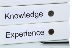 With knowledge and experience to success business concept Stock Photo