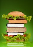 Knowledge fast food Royalty Free Stock Photography