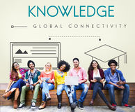 Knowledge Global Connectivity Education Graphic Concept Stock Image