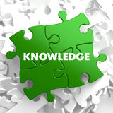 Knowledge on Green Puzzle Stock Images