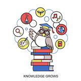Knowledge grows concept Stock Images
