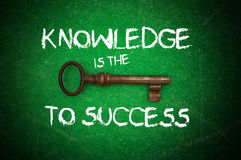 Knowledge is the key to success Stock Image