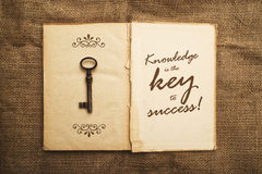 Knowledge is the key to success Royalty Free Stock Photos