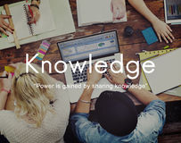 Knowledge Learn Education People Graphic Concept Royalty Free Stock Image