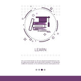 Knowledge Learning Education Web Banner With Copy Space. Vector Illustration Royalty Free Stock Images