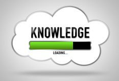 Knowledge loading. Loading bar concept royalty free illustration