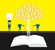 Knowledge makes money tree grow. Stock Photography