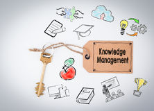 Knowledge Management. Key on a white background Royalty Free Stock Photos