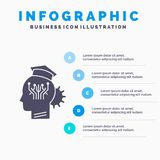 Knowledge, management, sharing, smart, technology Infographics Template for Website and Presentation. GLyph Gray icon with Blue. Infographic style vector vector illustration