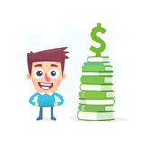 Knowledge about money Stock Images