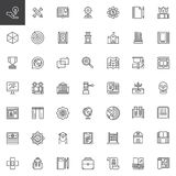 Knowledge outline icons set. Education linear style symbols collection, line signs pack. vector graphics. Set includes icons as anthropology, chemistry Stock Images