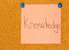 Knowledge post-it coarkboard background Royalty Free Stock Image