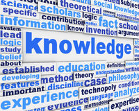 Knowledge poster design. Education message conceptual background Royalty Free Stock Image