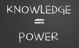 Knowledge is power. Written on a chalkboard Stock Photography