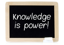 Knowledge is power on chalk board Royalty Free Stock Photo