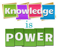 Knowledge Is Power Colorful Squares Stripes Royalty Free Stock Image
