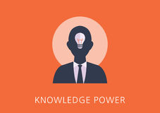 Knowledge power concept flat icon Royalty Free Stock Photo