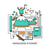Knowledge is power concept Royalty Free Stock Images