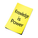 Knowledge Is Power. Concept on white background stock photos