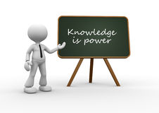 Knowledge is power. Stock Image