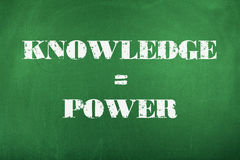 Knowledge is Power. Knowledge equals power concept chalkboard Royalty Free Stock Photos