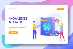 KNOWLEDGE IS POWER. Landing page template of KNOWLEDGE IS POWER Concept. Modern illustration flat design concept of web page design for website and mobile royalty free illustration