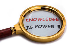 Knowledge is power Stock Image