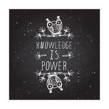 Knowledge is power - poster Royalty Free Stock Image