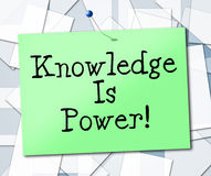 Knowledge Is Power Represents University College And Studying Stock Photo