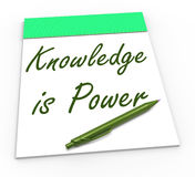 Knowledge Is Power Shows Abilities Or Knowing Stock Photos
