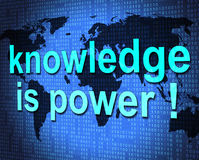 Knowledge Is Power Shows Expertness Comprehension And Tutoring Royalty Free Stock Photography